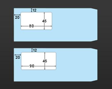 長形4号窓付き封筒