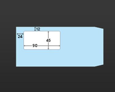 長形3号窓付き封筒